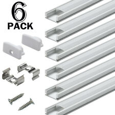 Aluprofil für Led Strips 6x100cm LED Aluminium U-Profil für LED-Streifen-Lichter