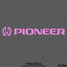 Pioneer Audio Car Stereo Vinyl Decal Sticker - Choose Color