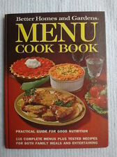Better Homes and Gardens MENU Cook Book 1972 First Edition First Printing