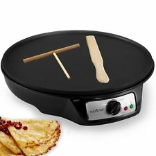 Crepe Maker Electric Machine Pancake Griddle Non-Stick Pan Cooking Breakfast