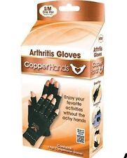 Copper Hands Arthritis Gloves As Seen on Tv Therapeutic Compression WITH BOX