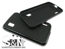 Google Nexus 4 LG960 Case Cube Handy Smartphone Rand Tasche Bumper schwarz