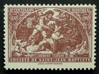 Societe Saint Jean Baptiste 1942 LAMBERT CLOSSE (GUM) Canada F/VF SSJB INDIAN