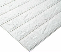 10x Steintapete 3D Tapete PE Wandpaneele Stein Ziegel Wandaufkleber Wandtattoo