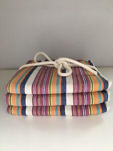 Set Of Three Turkish Handwoven 80% Linen 20% Cotton Peshtemal Towel 100X180 cm