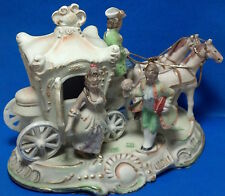 Vintage Victorian Horse & Carriage Porcelain Figurine