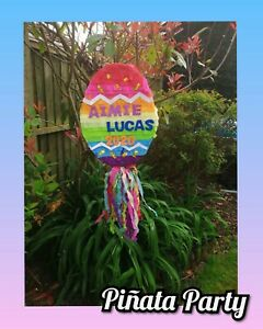 Customised Easter egg piñata rabbit birthday animals party  spring smash game