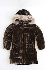 RALPH LAUREN velvet silk down waterfowl puffer quilted shearling hooded coat 5