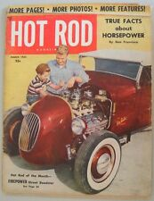 Hot Rod March 1953 Trad Rat Hirohata Mercury Deuce Coupe Roadster Model A T