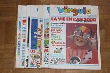 Lote de 7 antiguas revistas - VIRGULE - Francos Juegos - Años 80