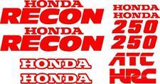 Honda Recon Decal Kit Gas Tank CUSTOM COLORS AVAILABLE moto hrc recon 250