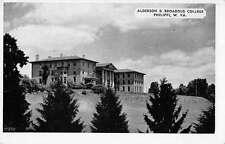 Philippi West Virginia view of Alderson-Broaddus College vintage pc Y12475