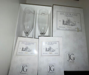 BOXED    J.G.  DURAND     CHAMPAGNE   GLASSES