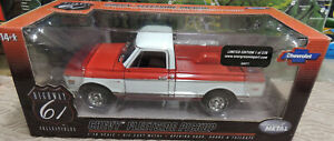 RED & WHITE 1972 CHEVROLET TRUCK HIGHWAY 61/DCP 1:18 SCALE DIECAST MODEL TRUCK