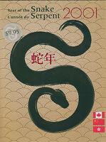 CANADA Year of the SNAKE pack with China & Hong Kong MNH original package 2001