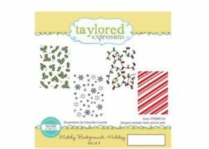 Taylored Expressions Cling Stamp Set ~ MATCHY BACKGROUND ~ HOLIDAY ~TEMS116