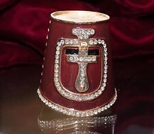 Artist Exclusive Knights Helmet Trinket Box with Austrian Crystals
