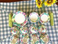 38 Pieces Set Signature Riviera/Van Beers IMAGES Cups Dinner Plates Bowls Saucer