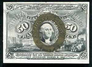 FR. 1316 50 FIFTY CENTTS SECOND ISSUE FRACTIONAL CURRENCY UNCIRCULATED