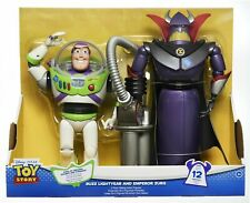 """Toy Story 12.5"""" Buzz Lightyear and 14"""" Emperor Zurg Talking Action Figures"""