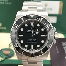 2017 Rolex Submariner 114060 No date Ceramic pre-owned box papers