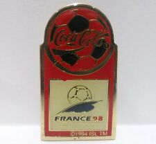 Coca-Cola - FRANCE '98, WORLD CUP - PINS attacco bottone a innesto-no ALLEGATO