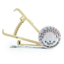 2pc Body Fat Caliper Mass Measuring Tape BMI Calculator Weight Loss Muscle Chart