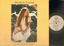 NICOLETTE LARSON In the Nick of Time  LP NMINT 1979 Related LITTLE FEAT