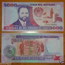 MOZAMBIQUE Banknote 5000 Meticais 1991 UNC