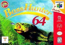 In-Fisherman Bass Hunter Nintendo 64 N64 OEM Authentic Video Game Cart Fishing