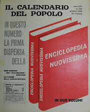 """"""" IL CALENDARIO DEL POPOLO N° 160 / GEN/1958 ANNO XIV° """""""