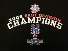 MLB New York Mets Baseball 2006 East Division Champions Black T Shirt Sz XL