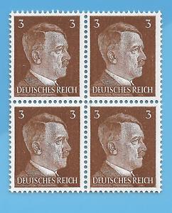 Germany WW2 1941 German Adolf Hitler 3 stamp Block MNH WW2 ERA