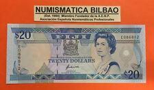 FIDJI ISLANDS 20 DOLLARS 1992 QUEEN ELIZABETH II Pick 95A UNC BANKNOTE Dolares