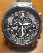 reloj citizen CRONO PILOT ACERO/AS4020-36E ( eco drive radiocontrolado)