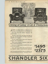 1922 Paper Ad Car Auto Automobile Chandler Six Chandler Motor Company Cleveland