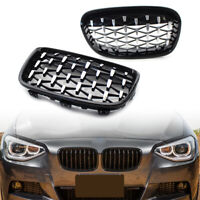 Front Grille Chrome Diamond Meteor Latest Style for BMW 1Series F20 11-14 Black