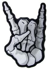 large JUMBO SKELETON HAND BONES HANG LOOSE BACK PATCH #091 EMBROIDERED 11 IN NEW