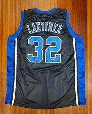 Christian Laettner Autographed Signed Jersey Team Duke Blue Devils JSA