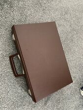 Vintage Brown Vinyl Cassette Case