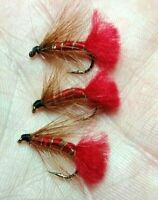 RED TAG FLY FISHING WET TROUT FLIES SIZE 12
