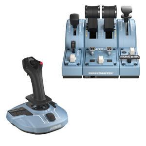 Thrustmaster tca flap airbus joystick throttle speed brake complete pack side