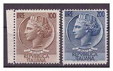 REPUBBLICA 1954 - SIRACUSANA TESTONI SERIE RUOTA  NUOVA **