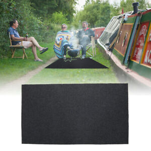 Fire Retardant BBQ Floor Protective Mat Barbecue Grill Pad Floor Deck Protector