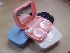 Cuidado de Viaje de plástico Forma Corazón Colorido titular de lentes de contacto Caja de remojo de almacenamiento