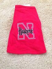Nebraska Cornhuskers Dog Puppy Shirt Tank Top Red Cotton Size 4-9 Pounds