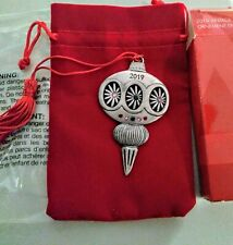 New In Box! Avon Collectible 2019 Vintage Inspired Pewter Ornament