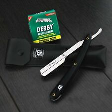 BARBER SALON STRAIGHT CUT THROAT SHAVING RAZOR SHAVETEE RASOIRS RASOI 100 BLADES