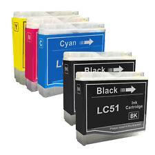 5 PACK New LC51 Ink Cartridge for Brother MFC-660CN MFC-665 MFC-680 MFC-685