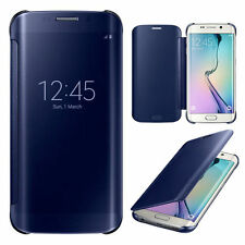 Luxury Mirror Flip Leather Case Smart Cover for Samsung Galaxy S6 Edge S7EDGE s8